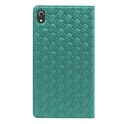 Acm Designer Executive Case For Lenovo Phab 6.98″ Tablet Flip Cover Turquoise