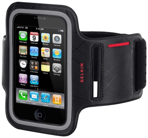 Belkin DualFit Sports Armband für Apple iPhone 3GS/ 3G schwarz/ silber (Iphone 3g-armband)