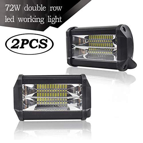 SSCJ Geführter Arbeits-Lichtstrahl, 4 Zoll 72W 6500K LED-Lichtstrahl-Flut-Punkt-wasserdichter kombinierter Arbeitslicht-Balken-Nicht für Jeep-LKW-Nebelscheinwerfer (4-zoll-nebelscheinwerfer Lkw Für)