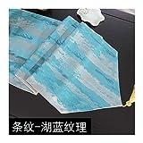 JUNYZZQ Tischläufer Nordic Gestreifte Modernen Minimalistischen Chinesischen Zen Couchtisch Fahnenstreifen Tischdecke Chinesischen Stil Mahlzeit Fahne 30X180 cm