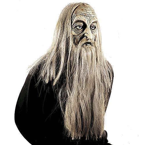 WIDMANN 83155Máscara millionär con peluca y barba, hombre, gris, talla única