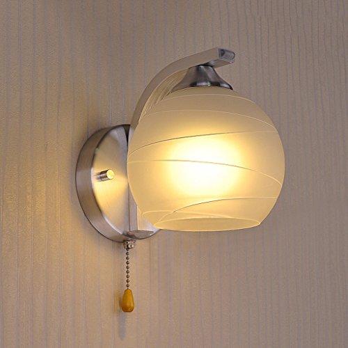 ZWX Creative moderne Minimaliste Salon Chambre Hôtel Couloir chaud Lampe de chevet Applique Avec interrupteur