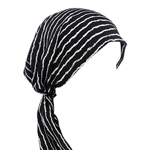 iShine Turban Damen Bandana Mädchen Hut Islamischen Muslim Elastizität mit Stoffdruck Dekoren Anhänger Band für Haarausfall Krebs Chemo (Farbig 1) (Objekt Kopf Kostüm)