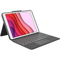 Logitech Combo Touch für iPad(7. Gen) A2200, A2197, A2198 und (8. Gen) A2270, A2428, A2429, A2430, Tastatur-Hülle mit…