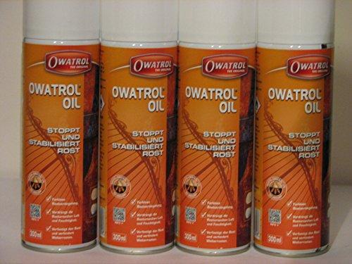 4 x Owatrol Öl Rostschutz/Rostversiegelung 300 ml Sprühdose