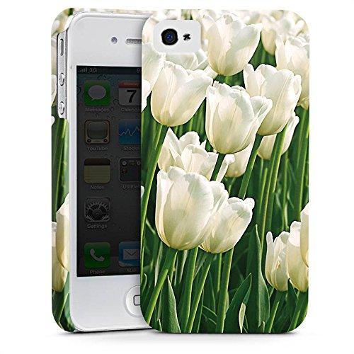 Apple iPhone X Silikon Hülle Case Schutzhülle Tulpen Blumen Blumenwiese Premium Case glänzend