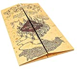 Noble Collection Mappa del Malandrino Originale HP Harry Potter Marauder's Map Weasley Grifondoro Serpeverde Tassorosso Corvonero Hogwarts Pop Cosplay