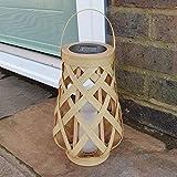 Cesto solare Tiki lanterna da giardino da appendere, ottima decorazione per prato all'aperto per patio, giardino, cortile e prato