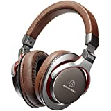 Audio-Technica ATH-MSR7 - Auriculares de diadema cerrados (3.5 mm, 100 dB/mW, 45 mm, 35 ohms), color marrón