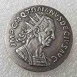 DDTing Pièce de Monnaie Romaine Ancienne - Collection de pièces - Roi Philosophe - Pièce de Monnaie Romaine Antique - Plaqué avec Argent Sterling 925...