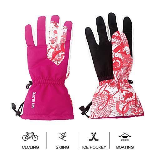 Mounchain Damen Skihandschuhe, warm wassserdicht Winddicht Thermohandschuhe für Outdoor W