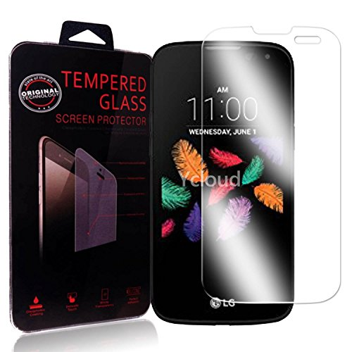 Ycloud Panzerglas Folie Schutzfolie Bildschirmschutzfolie für LG K3 (4.5 Zoll) 4G screen protector mit Härtegrad 9H, 0,26mm Ultra-Dünn, Abger&ete Kanten