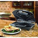 WisTec 750 Watt Sandwich Toaster with Fixed Plates (Black)