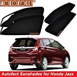 #3: Autofact Magnetic Window Sunshades/Curtains for Honda Jazz New [Set of 4pc - Front 2pc With Zipper ; Rear 2pc Without Zipper] (Black)