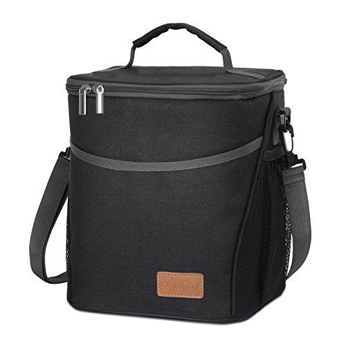 Lifewit Kühltasche Kühlbox Lunchtasche Mittagessen Tasche Thermotasche Isoliertasche Picknicktasche für Lebensmitteltransport (Schwarz 9L)