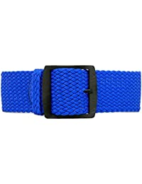 DaLuca Perlon trenzado nailon correa para reloj Perlon–azul (PVD de la hebilla): 22mm