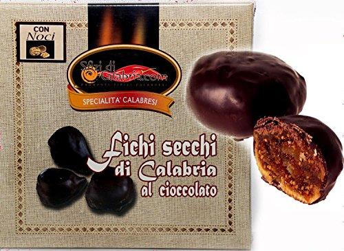 Fichi Calabresi Ripieni di Noci e Ricoperti al Cioccolato 250gr Tipici Calabresi