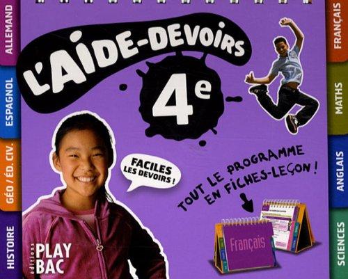 L'aide-devoirs 4e par Play Bac