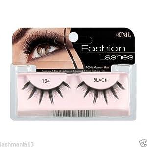 ARDELL Fashion & Accent Eye Lashes 100% Human Hair No 134 Black