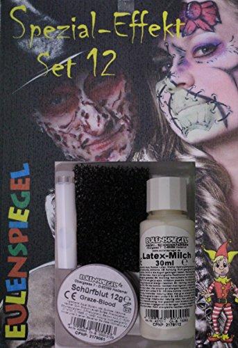 Halloween Spezial Effekte - Eulenspiegel Spezial Effekt Set 12 Halloween