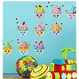 9 unds pegatinas cupcakes para dormitorios bebes infantiles cuartos de juegos guarderias panaderias pastelerias de OPEN BUY