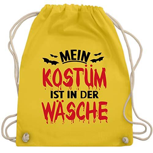 Halloween - Mein Kostüm ist in der Wäsche - schwarz/rot - Unisize - Gelb - WM110 - Turnbeutel & Gym (Schmutzige Frauen Kostüm)