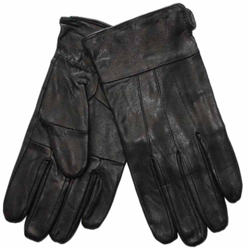 Herren Luxus-Thermo gefüttert weiches Leder Smart Winter Kleid Handschuhe Medium Schwarz Medium schwarz (Leder-kleid-handschuhe Gefütterte)