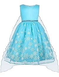 Vicloon Prinzessin Kostüm, ELSA Kleid Mädchen Prinzessin Kleid Kinder  Weihnachten Verkleidung Karneval Party… 1a2b1b169f