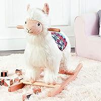 Asweets Kids Baby Rocking House ,Plush Wooden Toy For Boys Girls Child Rocking Horse Gift/Animal Rocker