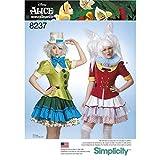 Simplicity Damen Schnittmuster 8237Alice im Wunderland Cosplay Kostüm