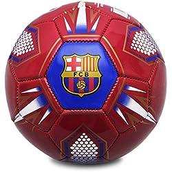FCB Barcelona FC Hex–Balón de fútbol, Color Rojo/Azul Marino, tamaño 1
