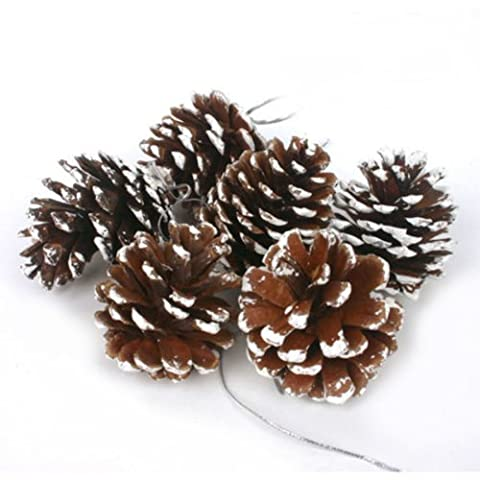 A Set of Six Log Pine Cones Pendant Christmas Decoration Supplies