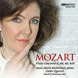 Mozart: Piano Concertos [Concerto No. 12] [Anne-Marie McDermott, Calder Quartet] [Bridge: BRIDGE 9403]