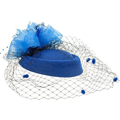 Tee-Party Faszinator Federhut Feder Haarklammer Pillbox Hut für (Girl Kostüm Derby Kentucky)