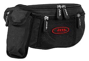 Tough Polyester Jeep Womens Waist Bum Bag Fushia (Black(Red-Logo))