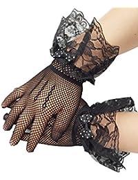 Blumenmädchen Fischnetz Handschuhe Hochzeit