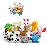 Wicemoon Finger Puppets Pattern Animal Puppet Set Toys 10pcs Different Style Childrens Cloth Doll Toys
