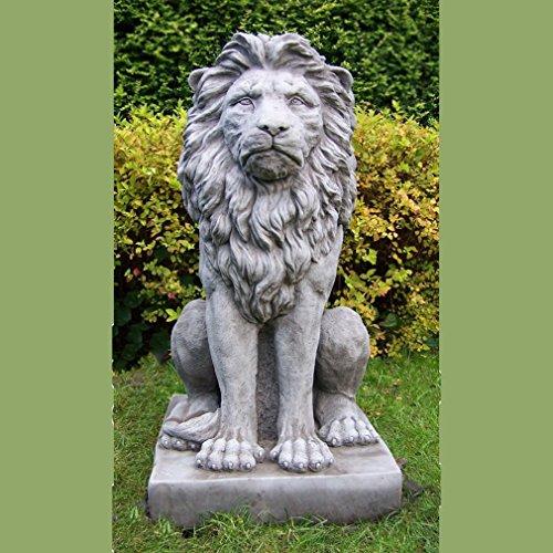 Grande Scultura, Statua ornamentale da giardino in pietra-Fiero Leone/