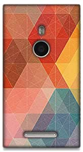 The Racoon Grip Geometric Design with Colors hard plastic printed back case / cover for Nokia Lumia 925
