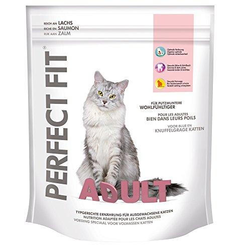 Perfect Fit Adult Katzenfutter reich an Lachs, 5 Packungen (5 x 750 g)