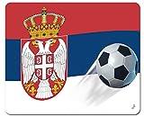 1art1 113079 Fußball - Serbien Länder-Flagge Mauspad 23 x 19 cm