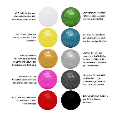 KLANGKUGEL einzeln verschiedene Farben Glücksbringer