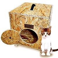 Bundera Cat Home Ahşap Dış Mekan Kedi Evi Kulübesi