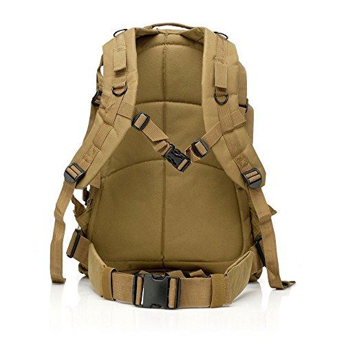 40L MOLLE 3D Assault Tactical Outdoor Militär Rucksäcke Rucksack Camping Laptop Tasche Rucksack für 10bis 39,6cm Laptops hautfarben