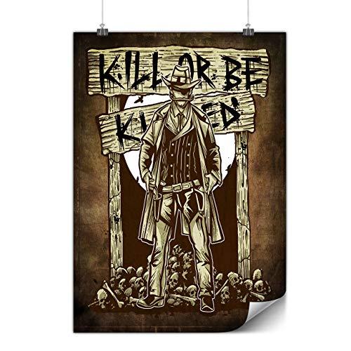 Western Papier Masken - Wellcoda Western Mörder Plakat Unheimlich A1