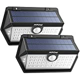 Mpow 40 LED Solar Lights, [Brighter than other 80 LED Solar Lights] 3 Modes Security Lights, Wide-Angle Motion Sensor, High efficiency Solar Panel Waterproof Solar Powered Outdoor Lights, Pack of 2
