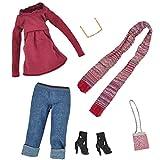 6 UNIDS Moda Muñeca Juguete Invierno Pantalones Suéter Gafas de Sol Zapatos Bolsa Bufanda Trajes Accesorios de Ropa para 11.5 pulgadas de Altura Muñecas Barbie Juguetes Niños Niñas Regalo de Navidad de Cumpleaños