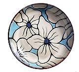 HANLEILE Set Schüssel Keramik Teller Dish japanisches Gericht Kreative Startseite Handgemalte Underglaze Farbe Geschirr Retro Runde Deep Dish, U