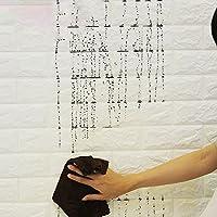 Aliciashouse 4 pezzi 3D elasticità mattoni grano Wallpaper Wall Stickers