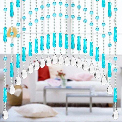 Gaddrt Mobiles Vorhang Glas Kristall Korn Kristall Glasperlen Luxus Wohnzimmer Schlafzimmer Fenster Tür Hochzeit Deko (A)